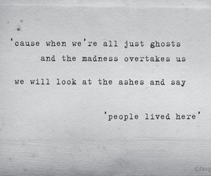 black and white, ghosts, and Lyrics image