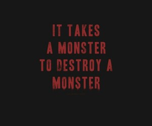 quotes, monster, and red image