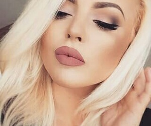 beauty, lips, and blond hair image