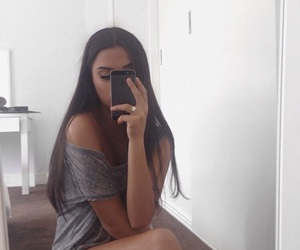 girl, selfie, and iphone image