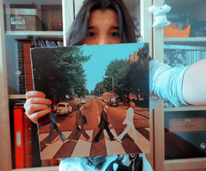 abbey road, girl, and the beatles image