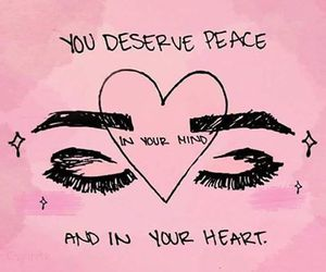 peace, eyes, and pink image