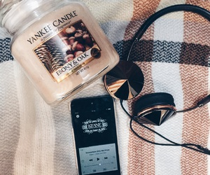 candle, cosy, and fall image