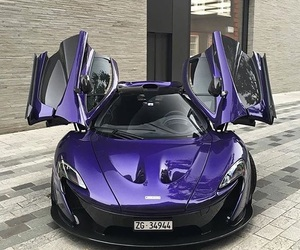 car, mercedes, and purple image