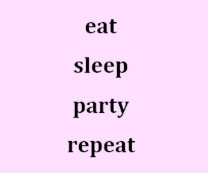 eat, party, and repeat image