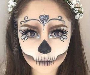 Halloween, makeup, and make-up image