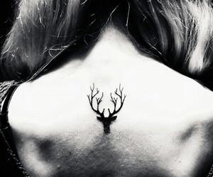 tattoo, deer, and tatoo image