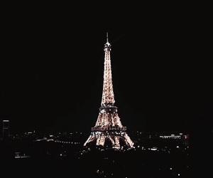 paris, night, and light image