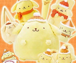 accessories, yellow, and pom pom purin image