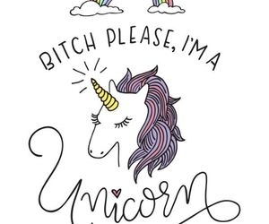 unicorn, wallpaper, and bitch image