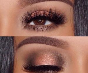makeup, make up, and brown eyes image