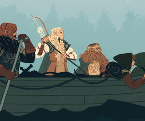 dwarf, hobbit, and lord of the rings image