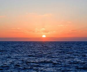 sea, stuff, and sunset image
