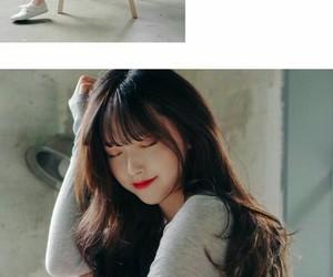 asian girl, brown hair, and korea image