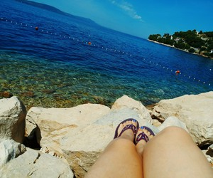 blue, sea, and chilling image