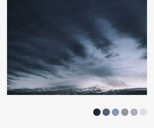 clouds, palette, and blue image