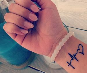 bracelet, faith, and heartbeat image