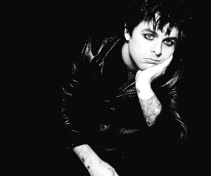 green day, billie joe armstrong, and black and white image