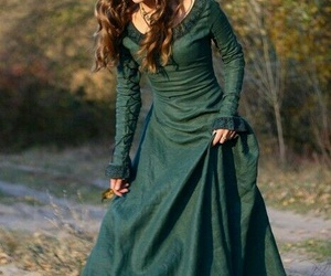 dress, girl, and medieval image