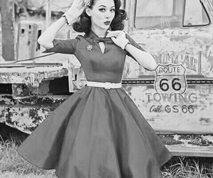 fifties, girl, and rockabilly image