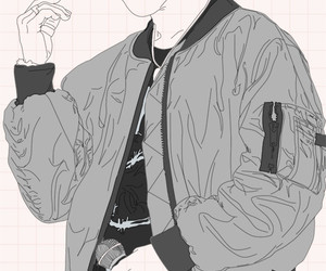 bts, jimin, and lineart image