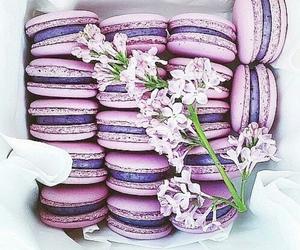 food, flowers, and purple image