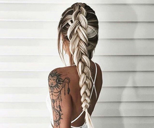 braid, fashion, and gilrs image
