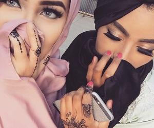 hijab, fashion, and friends image