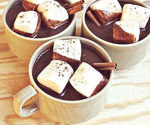 chocolate, marshmallow, and hot chocolate image