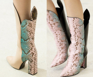 boots, fashion, and pattern image