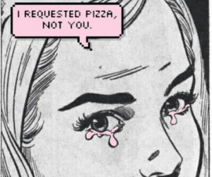 pizza, grunge, and comic image