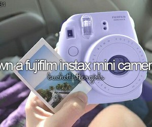 bucket list and fujifilm image