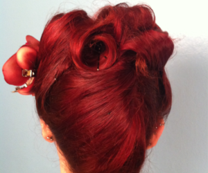 hair and victory rolls image