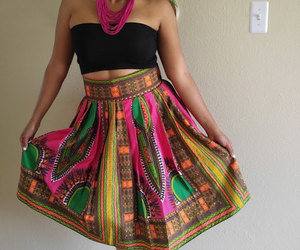 etsy, african clothing, and high waist skirt image