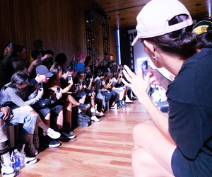 backstage, baseball hat, and fashion image