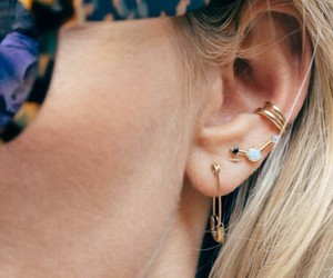 blonde, earing, and minimalist image