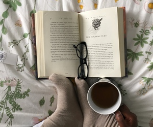 autumn, book, and food image