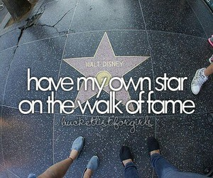 girl, Walk of Fame, and bucket list image