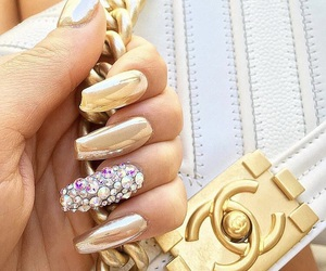 chanel, diamond, and gold image