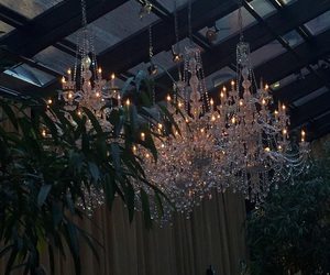 chandelier, dark, and aesthetic image