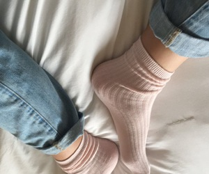 aesthetic, bed, and socks image