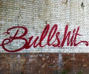 bullshit, wall, and graffiti image