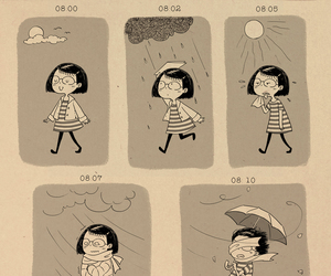 art, draw, and rain image