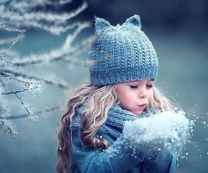 snow, winter, and child image