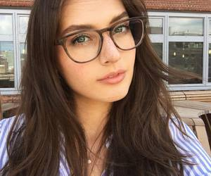 glasses, hair, and pretty image