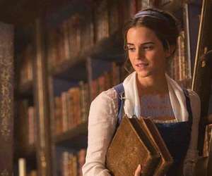 beauty and the beast, belle, and harry potter image