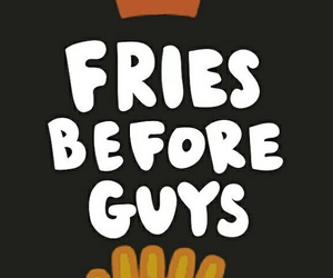 black, food, and fries image