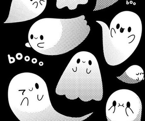 wallpapers, black and white, and Halloween image