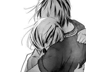 manga, black and white, and monochrome image