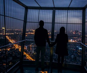 love, couple, and city image